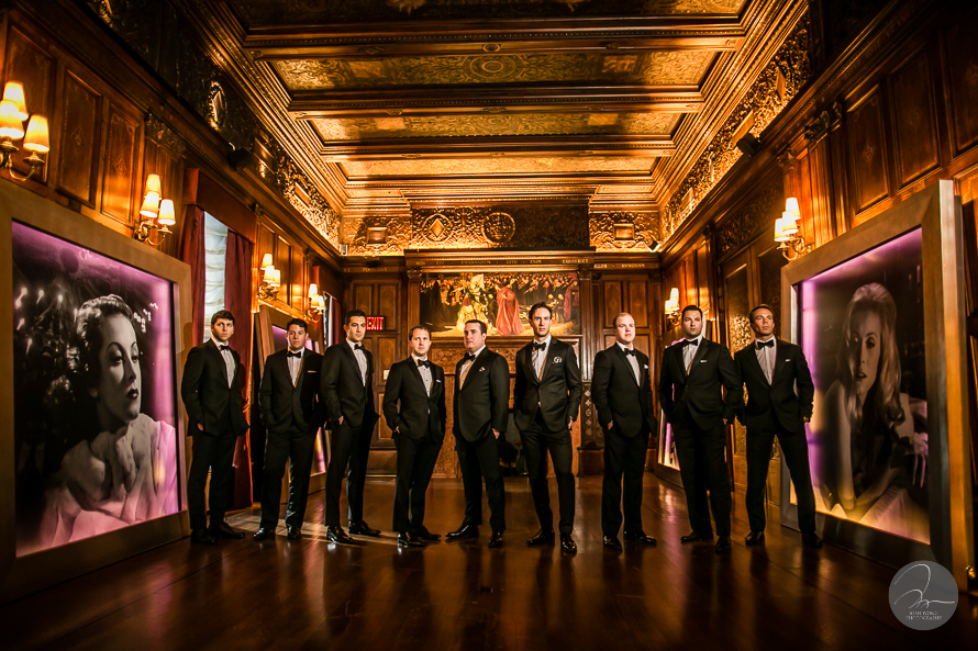 Wedding at The New York Palace Hotel - Groom and Groomsmen bridal party pictures