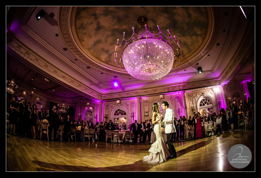 The first dance. JW Marriott Essex House wedding pictures and photos provided by Josh Wong Photography, NYC