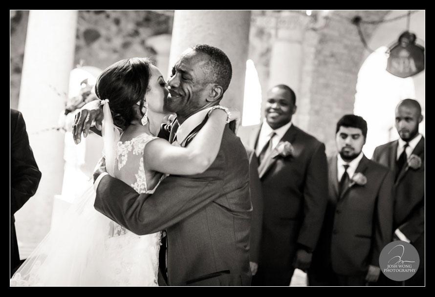 Father Daughter moment - Wedding Ceremony at The Ballroom Veranda in Bella Collina, Orlando Florida