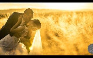 Sunset wedding pictures at Bella Collina Resort. Orlando Florida