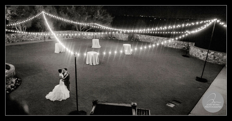 An intimate moment on the Bella Collina Grand Lawn