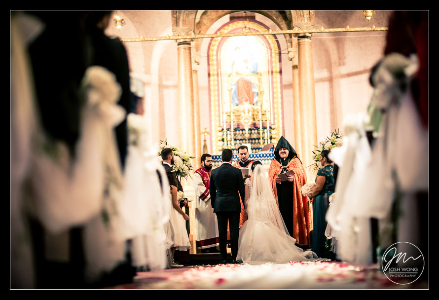 St. Vartan Cathedral wedding pictures. New York Wedding pictures by Armenian wedding photographer Josh Wong Photography