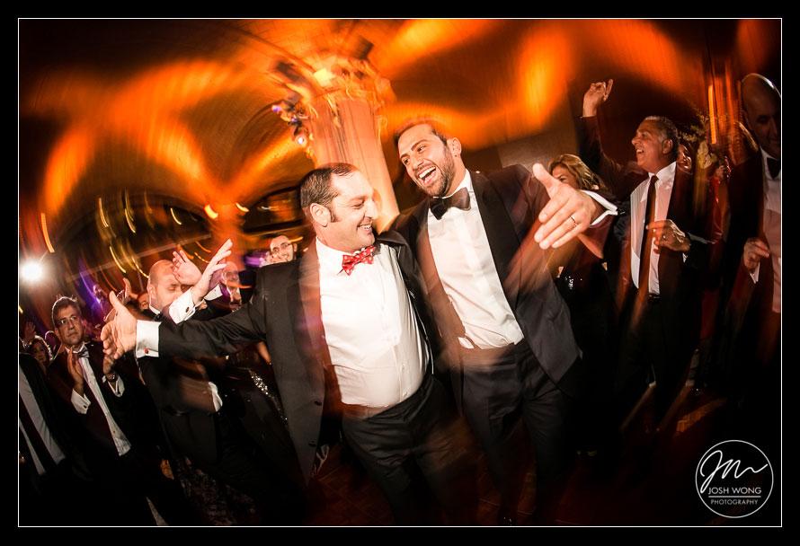 Dancing Dancing and more dancing. Guastavino's New York City Wedding photos. New York Wedding pictures by Armenian wedding photographer Josh Wong Photography