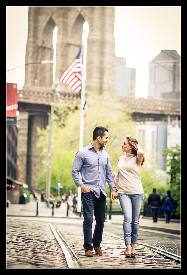 Brooklyn Bridge and Dumbo Engagement Photo Shoot by top engagement