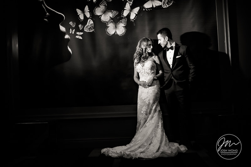 Temple Israel of Lawrence, NY - Wedding Photographer. Wedding pictures by Josh Wong Photography