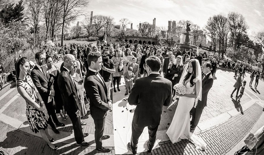 Bethesda Fountain and Terrace at Central Park Wedding. Wedding pictures by NYC Top Wedding Photographer Josh Wong Photography