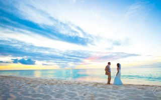 Turks and Caicos Destination Beach Wedding at the Amanyara Resort. wedding picture by destination wedding photographers Josh Wong Photography