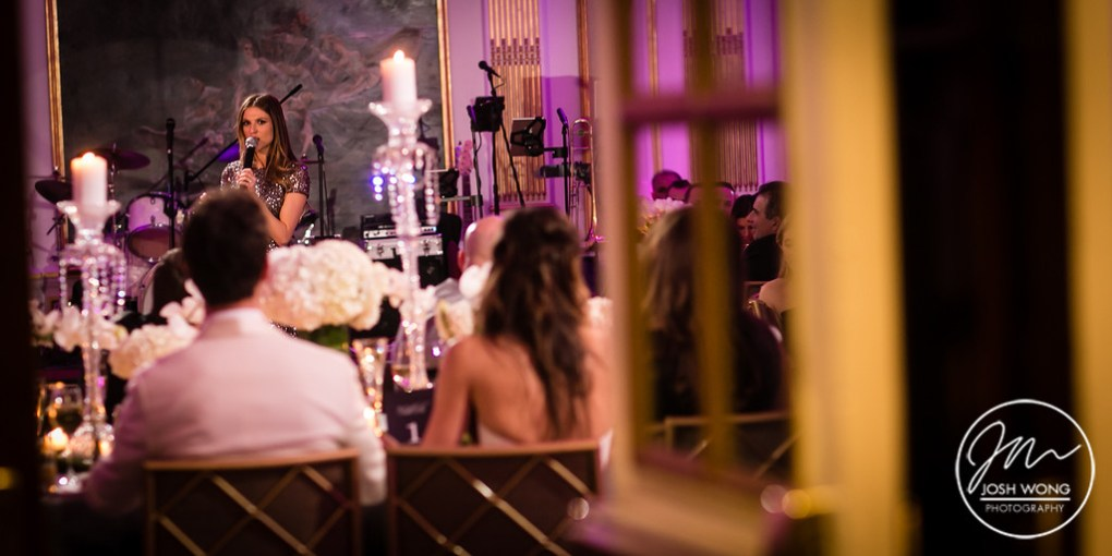 Maid of Honor speech during the main course dinner reception at The Lotte New York Palace Hotel