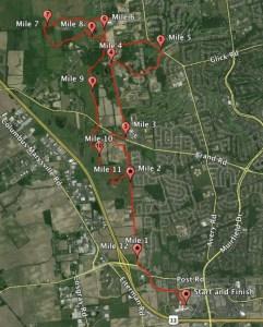Emerald City Half Marathon 2013 Map