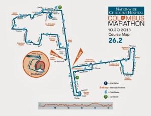 Columbus Marathon 2013 Map