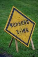 Runner X-ing Sign
