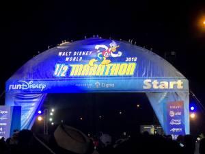 Disney World Half Marathon starting line