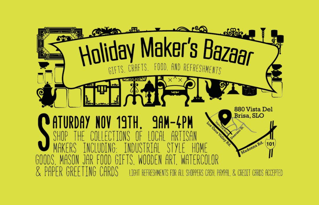 holliday Maker's Bazaar - Flyer design - Bakersfileld