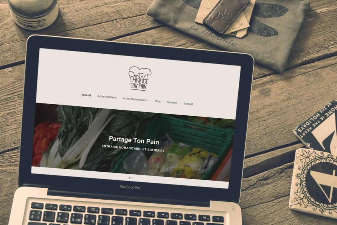 Partage ton pain – Website & Logo