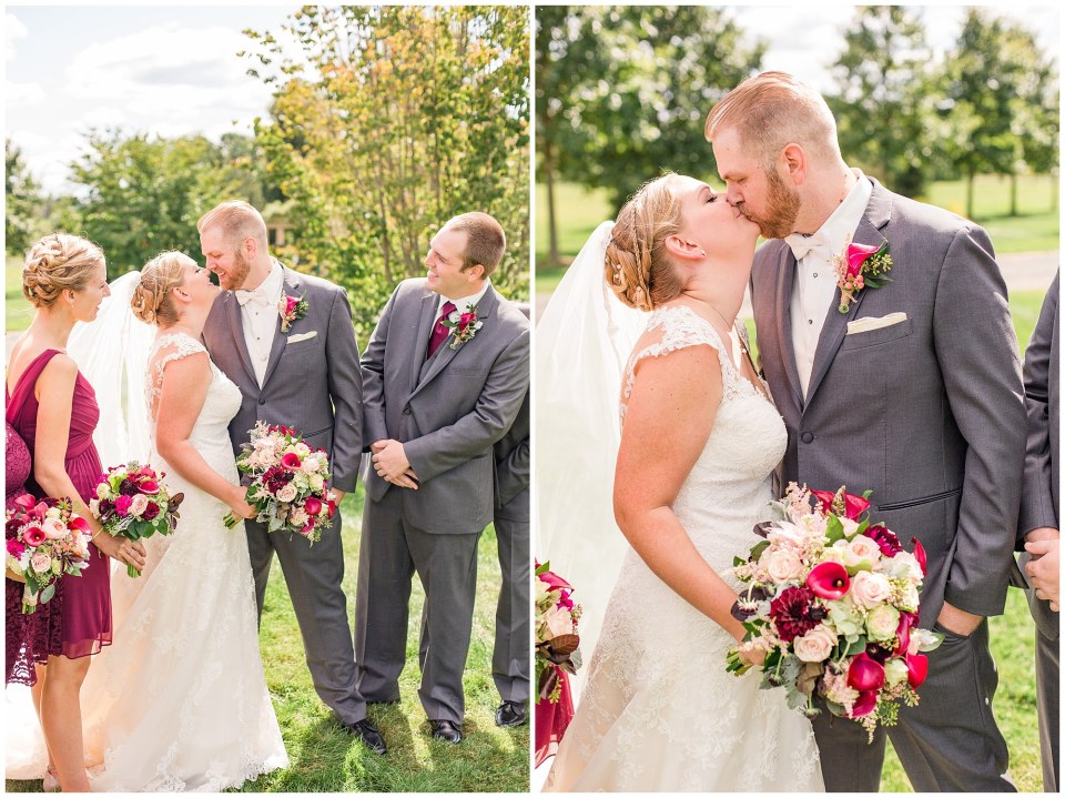 Mike & Christina's Grey & Maroon Farm Wedding in New Hope, PA Photos