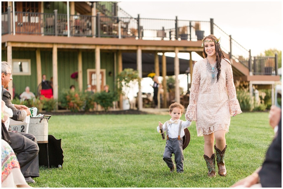 Cody & Hali's Boho Chic Barn Wedding at Thousand Acre Farms in Delaware Photos_0033.jpg