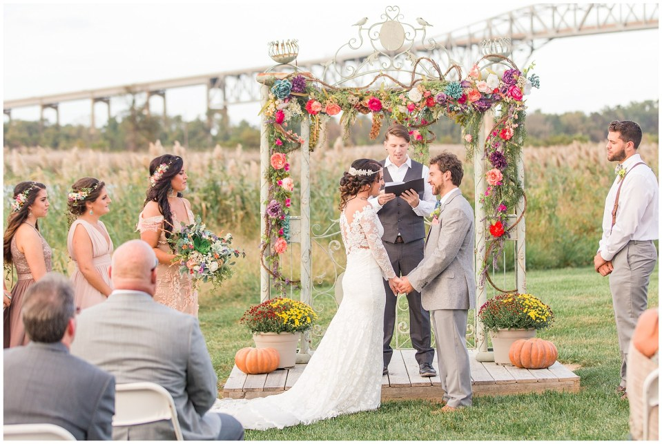 Cody & Hali's Boho Chic Barn Wedding at Thousand Acre Farms in Delaware Photos_0044.jpg