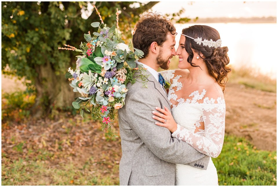 Cody & Hali's Boho Chic Barn Wedding at Thousand Acre Farms in Delaware Photos_0080.jpg