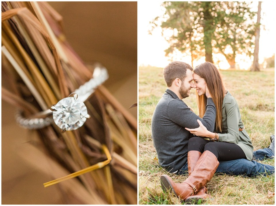 Mike & Jenny's Sunset Fall Engagement at Valley Forge Park and Philadner Chase Knox Estate Photos_0011.jpg