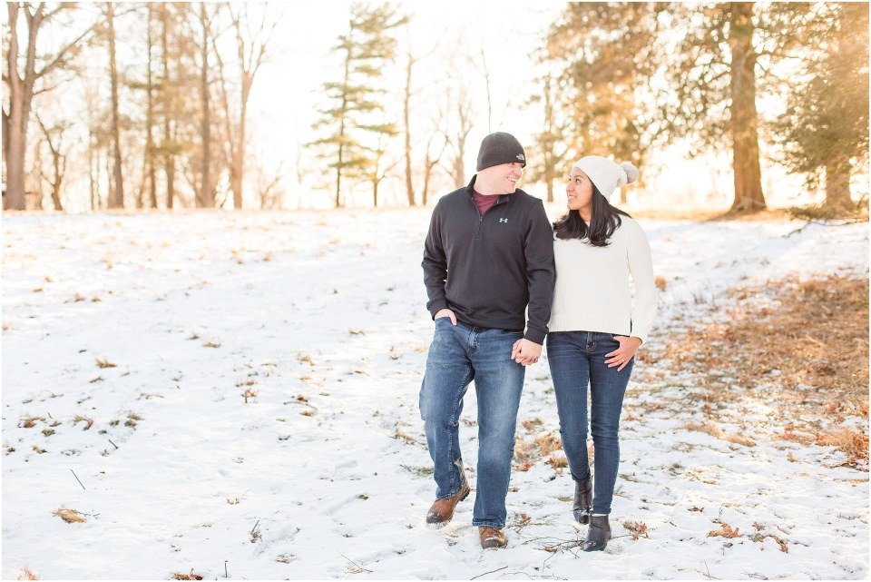 Brad & Mary's Snowy Winter Engagement at Valley Forge Park in Wayne, PA_0004.jpg