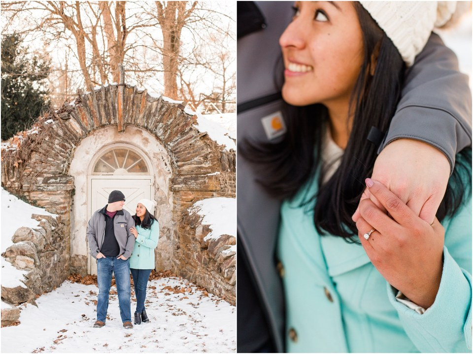 Brad & Mary's Snowy Winter Engagement at Valley Forge Park in Wayne, PA_0009.jpg