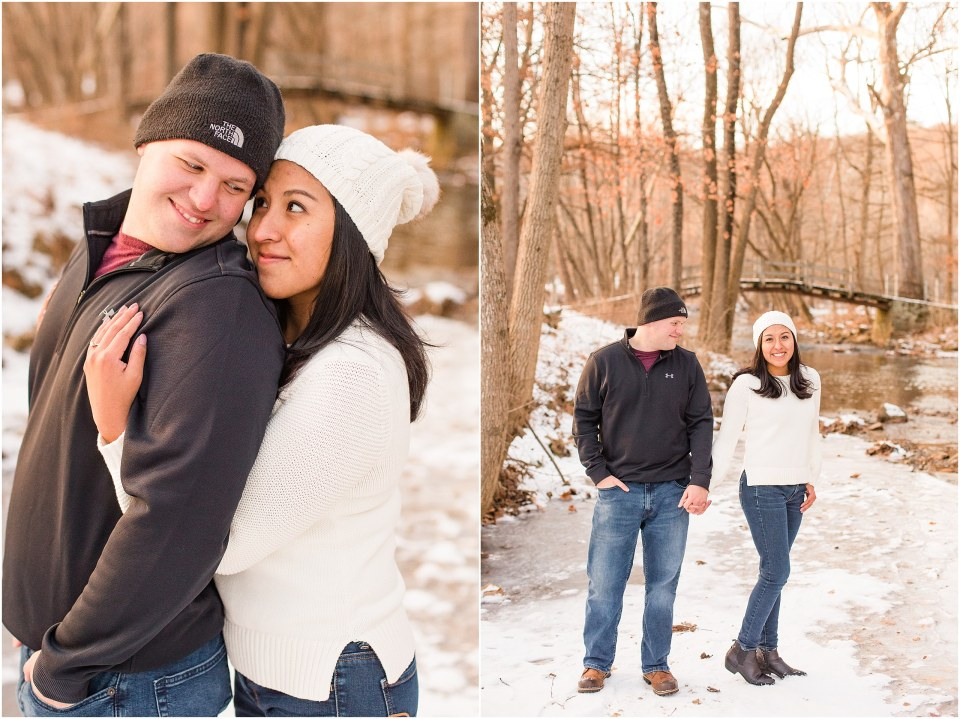 Brad & Mary's Snowy Winter Engagement at Valley Forge Park in Wayne, PA_0013.jpg