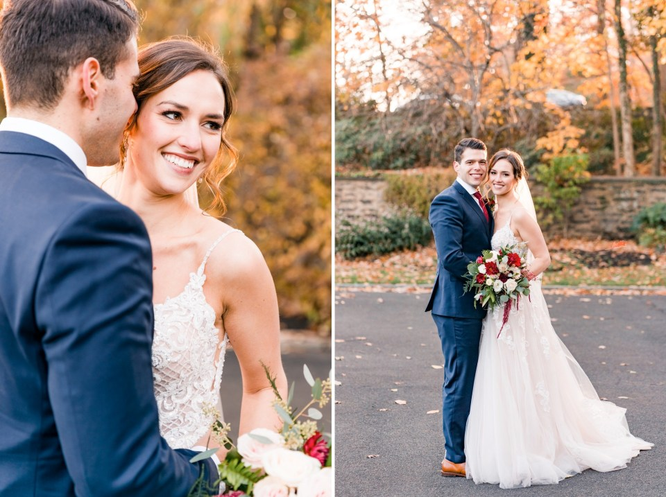 Alex & Jen's Cold November Wedding at Huntingdon Valley Country Club Photos