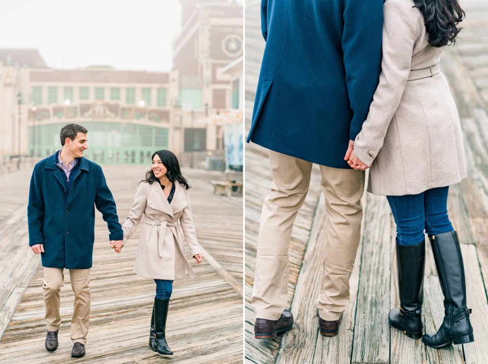 Charlie & Janine Foggy Asbury Park, New Jersey Engagement Photos