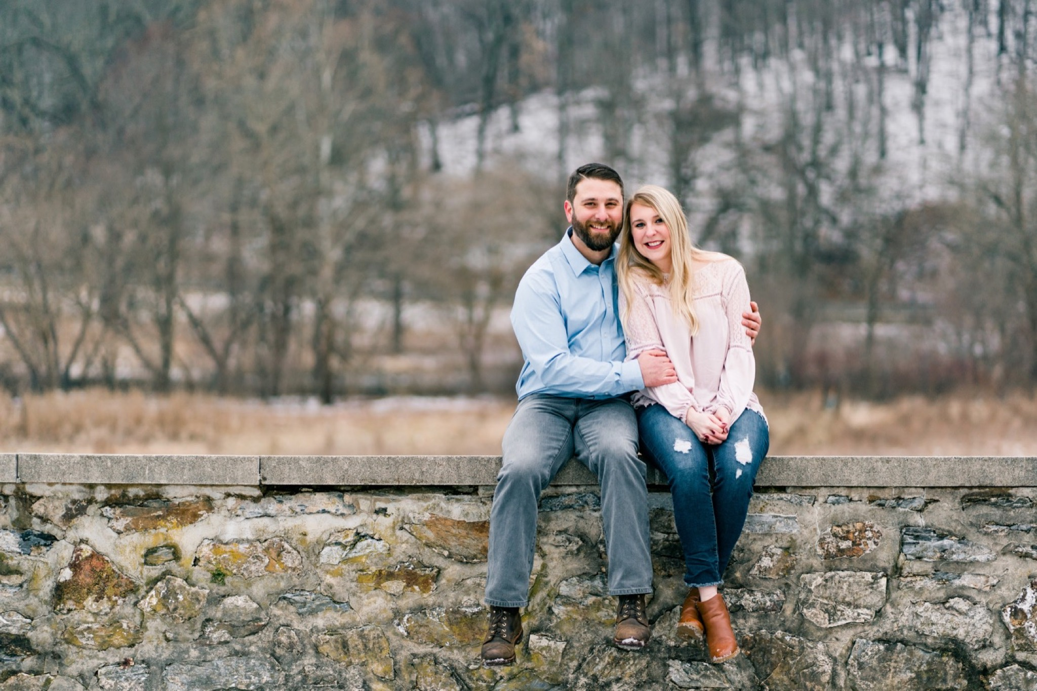 Gabe & Megan Snow Engagement at the Philander Chase Knox Estate