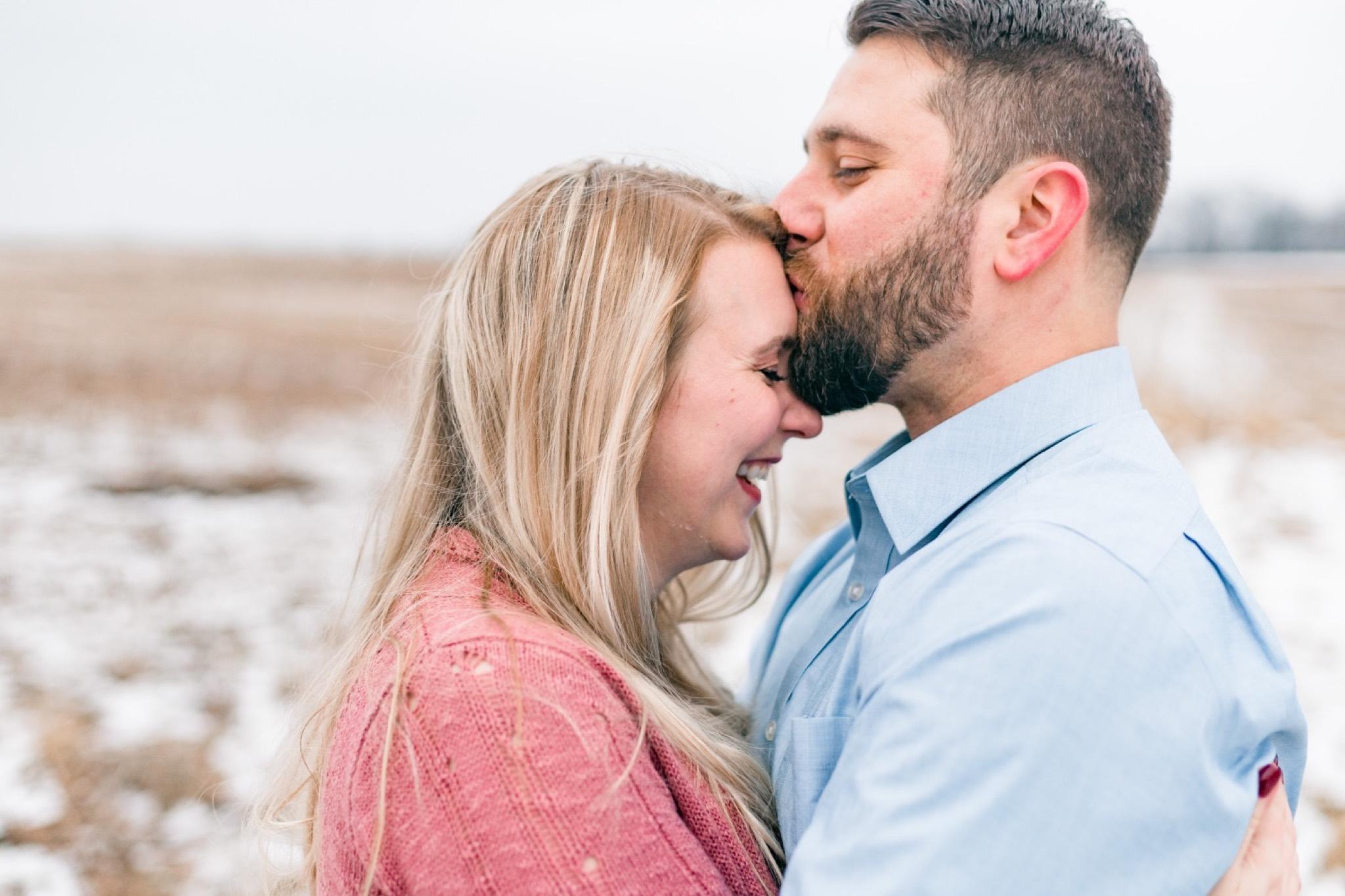 Gabe & Megan Snow Engagement at the Philander Chase Knox Estate