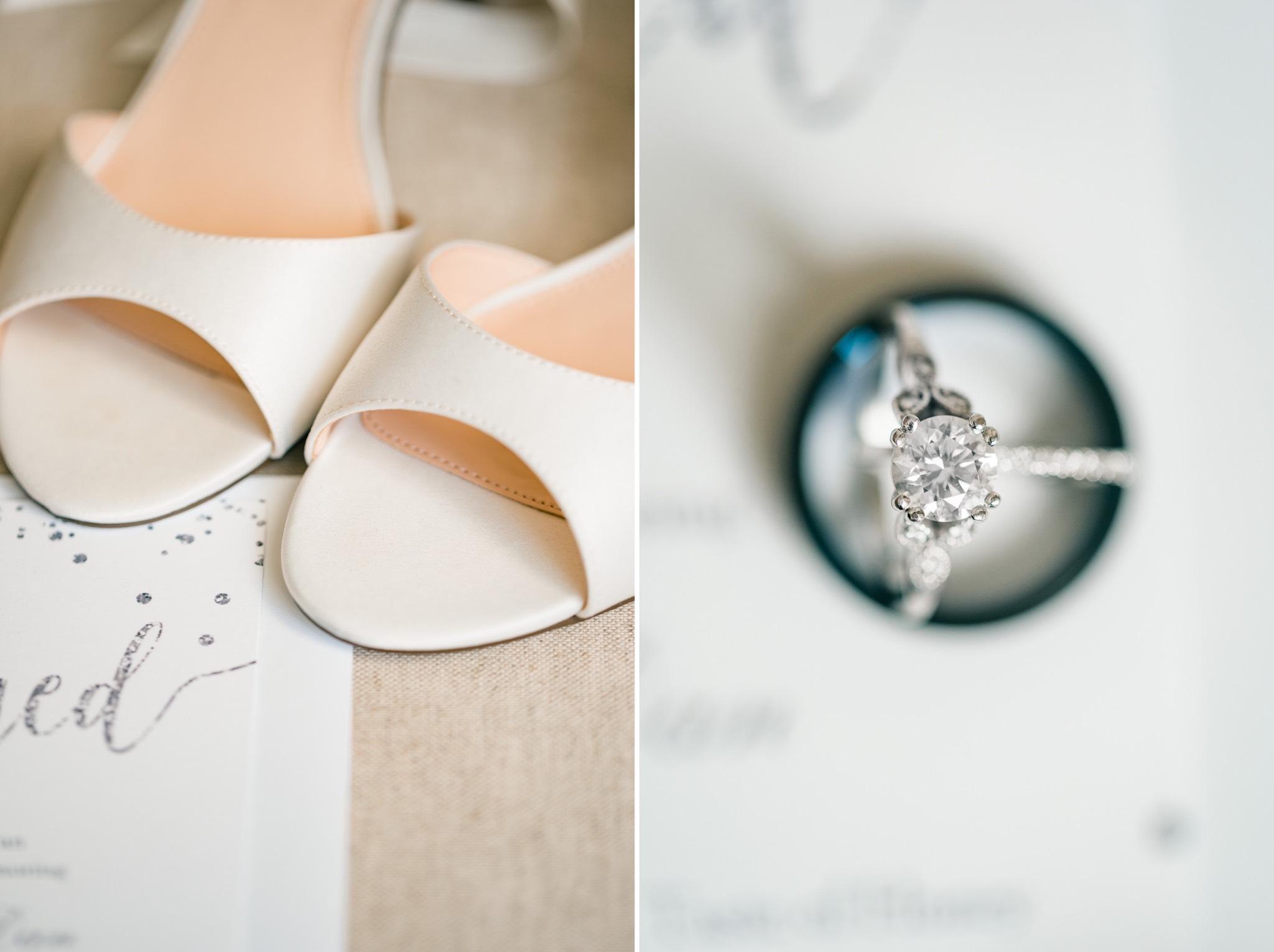Nina Shoes + Ring Staten Island Wedding