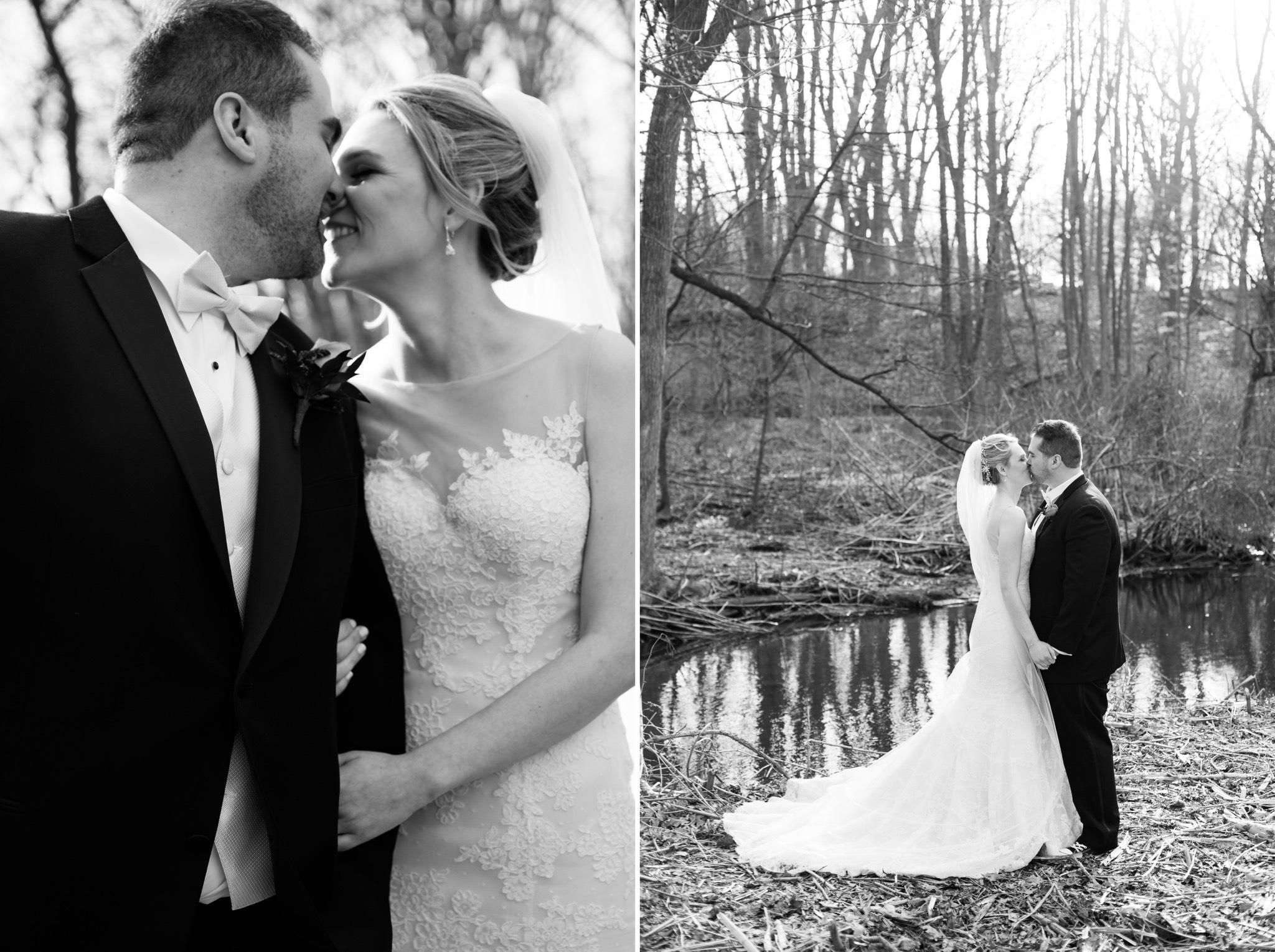 Black and White Portrait Staten Island Wedding