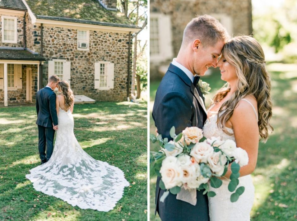 Bride and Groom Portraits at Anthony Wayne House