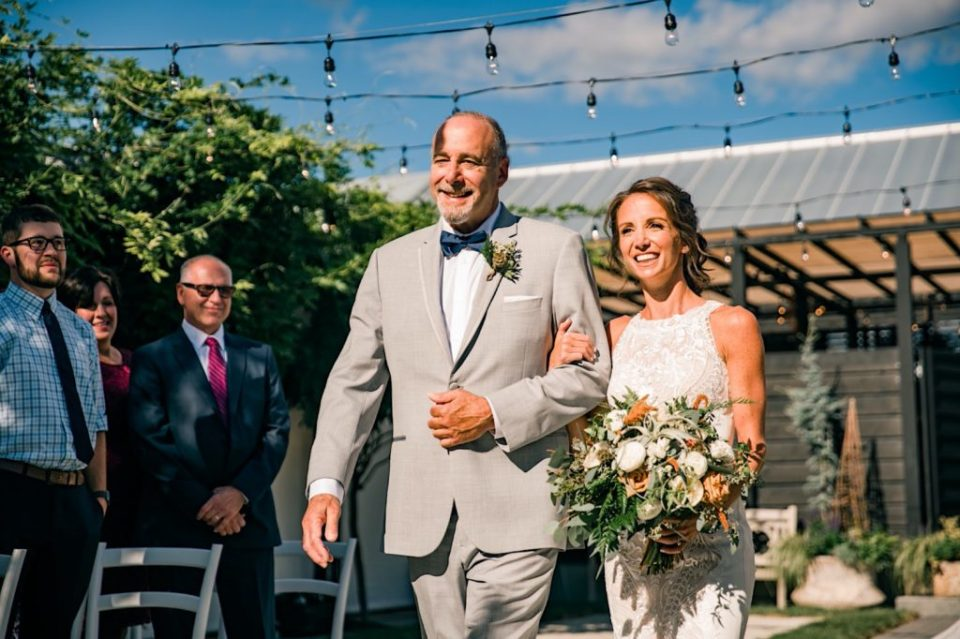 Bride Down Aisle Terrain Gardens Micro Wedding Photos