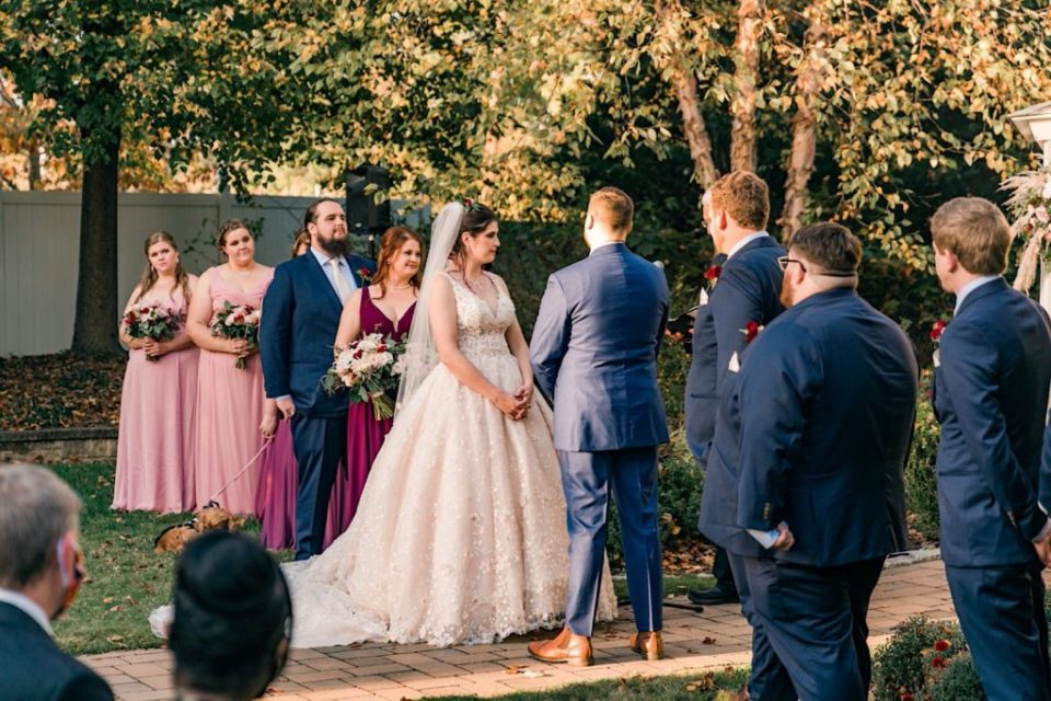Fall Wedding at Springfield Country Club Photos