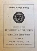 Houghton Library. Harvard University. Houghton Harvard Depository *GC8.Sch264.C856w