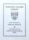 Widener Library. Harvard University. WidenerHarvard DepositoryKF 4425