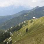 Beautiful steep mountains on hiking adventure in Slovenia.