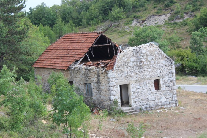 Sleeping in ruined buildings in Montenegro