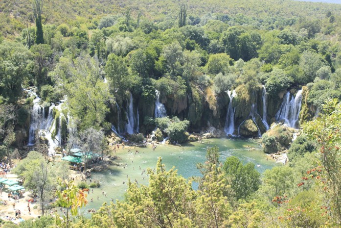 Kravicka Waterfalls in Bosnia