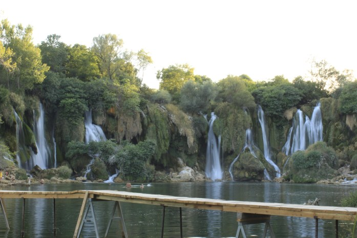Kravicka Waterfalls in Bosnia.