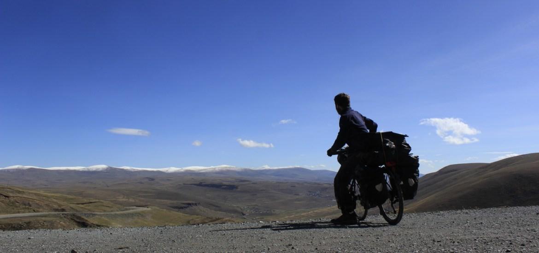 Climbing a mountain in East Turkey enjoying a beautiful view.
