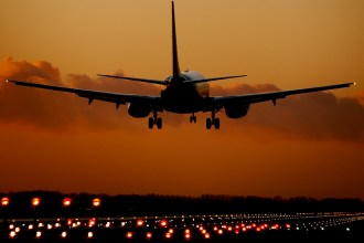 Plane taking off to come home after travelling