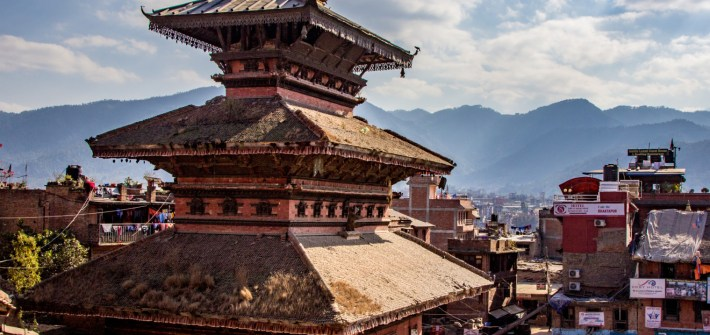 Amazing arcithecture at building in Bhaktapur Durbar Square in kathmandu