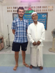 Tourist with Muslim Imam