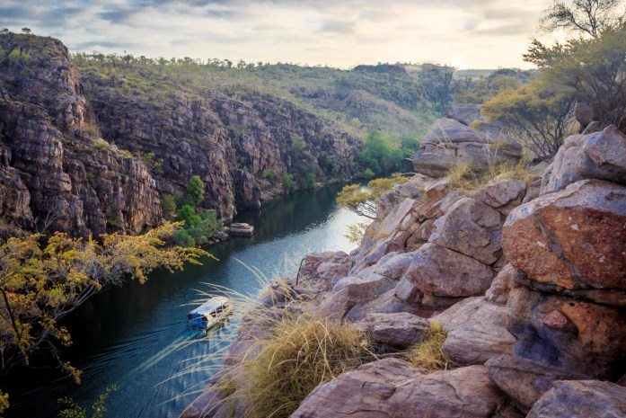 Katherine Gorge at Sunrise from the Lookout Point