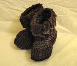 Purple Wool Slippers £25