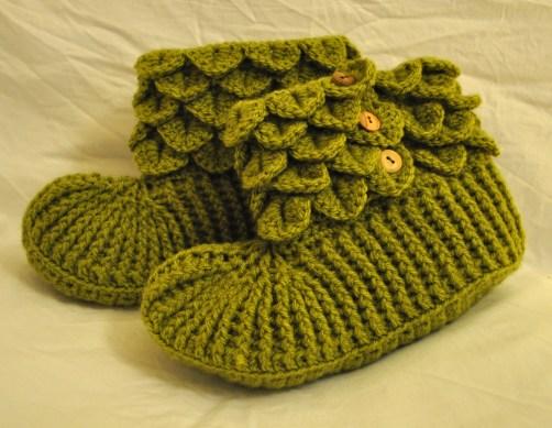 Green Wool Blend Slippers £25