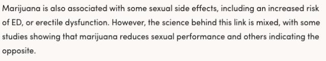 marijuana, erectile function