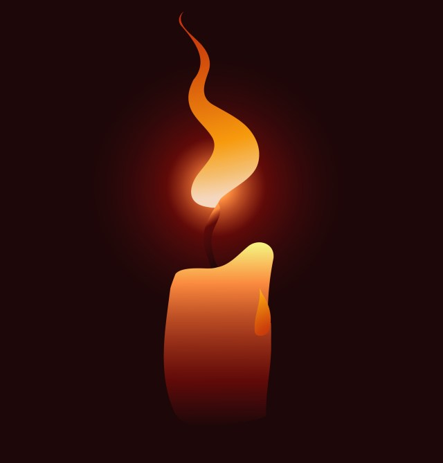 flickering candle, flame, soulmate